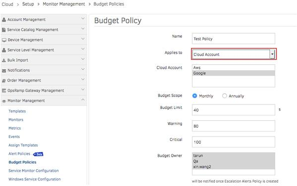 Create Budget Policies For Timely Notifications