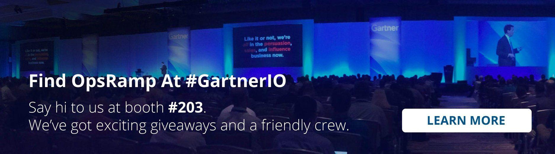 Meet with OpsRamp at Gartner IT Operations Summit