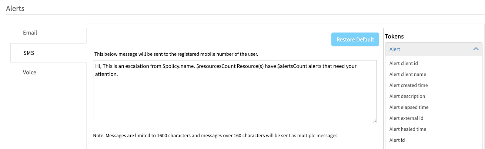 OpsRamp_SMS_Notifications