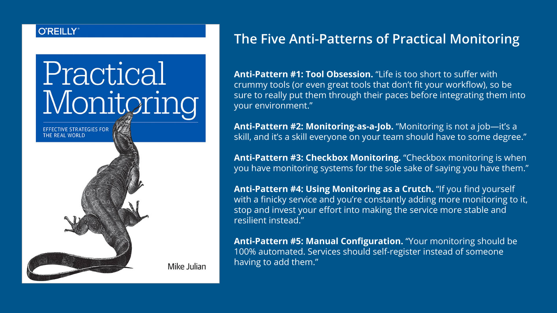 The Five Anti-Patterns of Practical Monitoring
