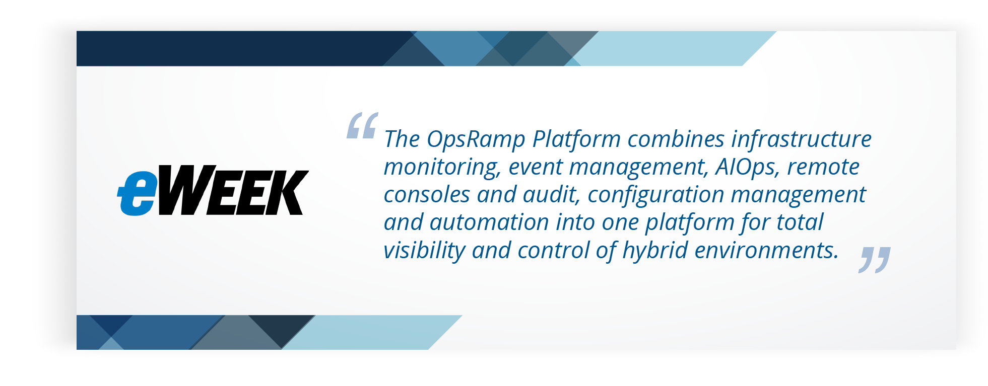 eWeek Review On OpsRamp