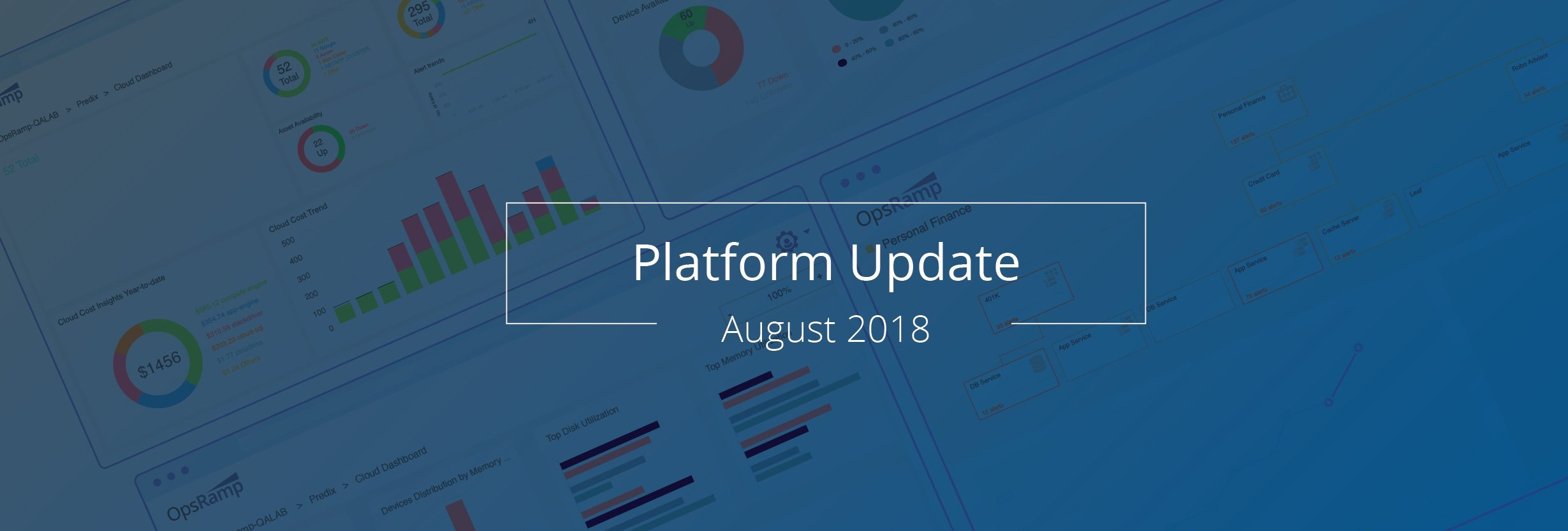 OpsRamp August 2018 Platform Update: Meet Hybrid IT Challenges With Audit Trails, Alerts, And Cloud Management