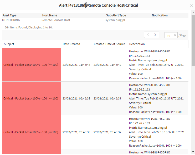 Alert-Remote-Console-Host-Critical