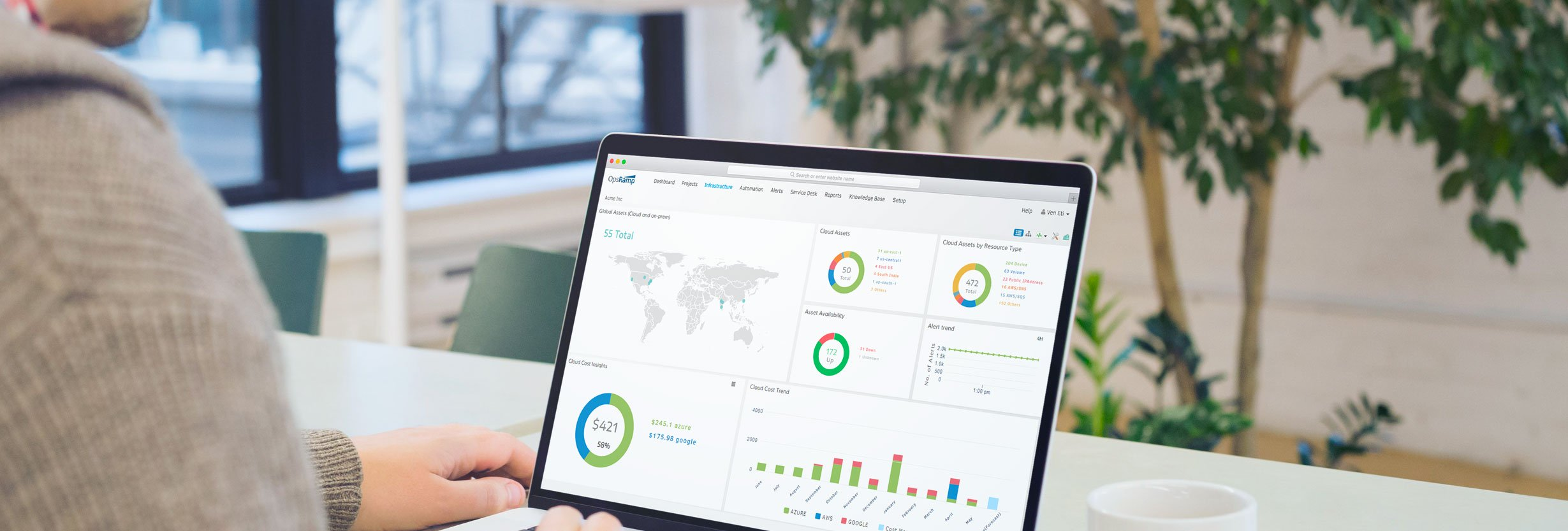 Build A Data-Driven Culture For Digital Operations Management With OpsRamp's Role-Based Dashboards