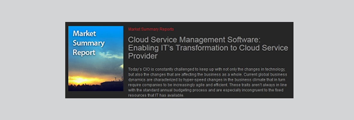 Who Are You Calling an Emerging Cloud Service Management Vendor?